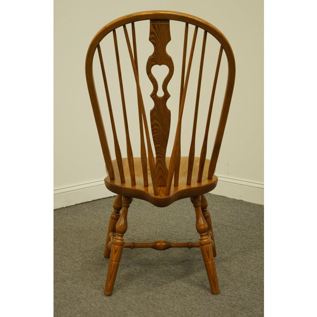 Wood Late 20th Century Vintage S. Bent Bros. Grand Rapids Solid Oak Country Style Dining Side Chair For Sale - Image 7 of 11
