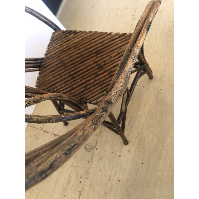 Antique Rustic Adirondack Twig Chair For Sale - Image 10 of 13