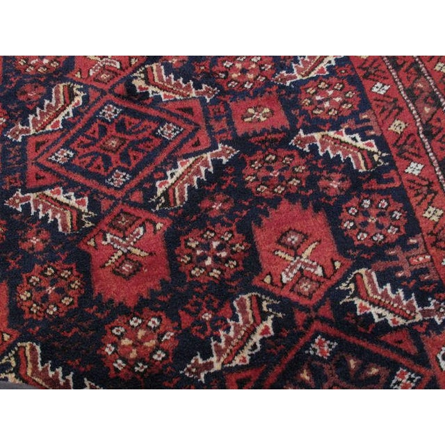 Early 20th Century Antique Baluch Rug For Sale - Image 5 of 8