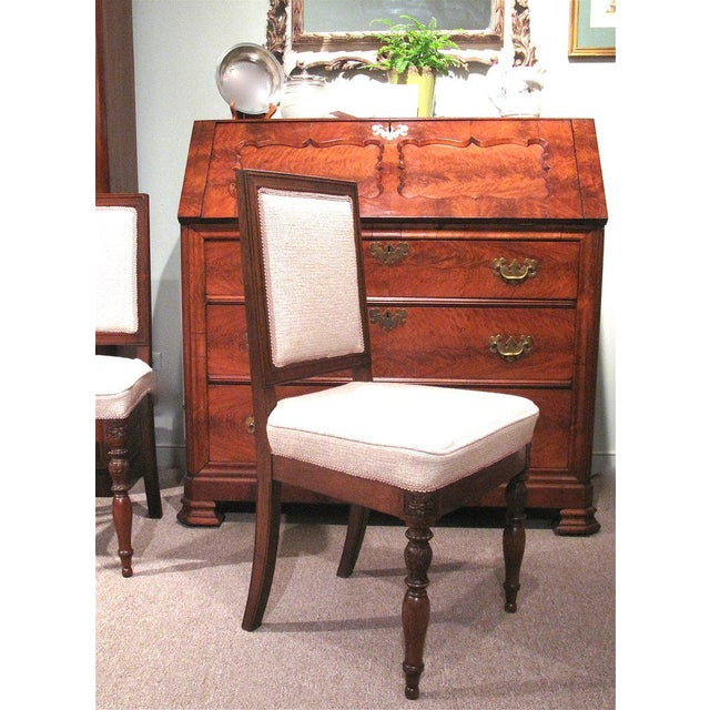 19th Century French Walnut Square Back Chairs - a Pair - Image 7 of 9