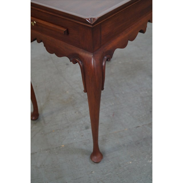 Henkel Harris Solid Cherry Queen Anne Tea Table - Image 5 of 10