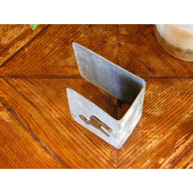 Rustic Farmhouse Napkin Holder For Sale In San Francisco - Image 6 of 7