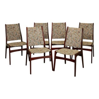 Danish Modern Rosewood Set 6 Dining Chairs For Sale