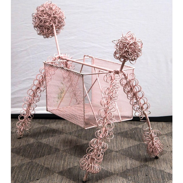 Frederick Weinberg Pink Poodle Magazine Stand For Sale In New York - Image 6 of 7