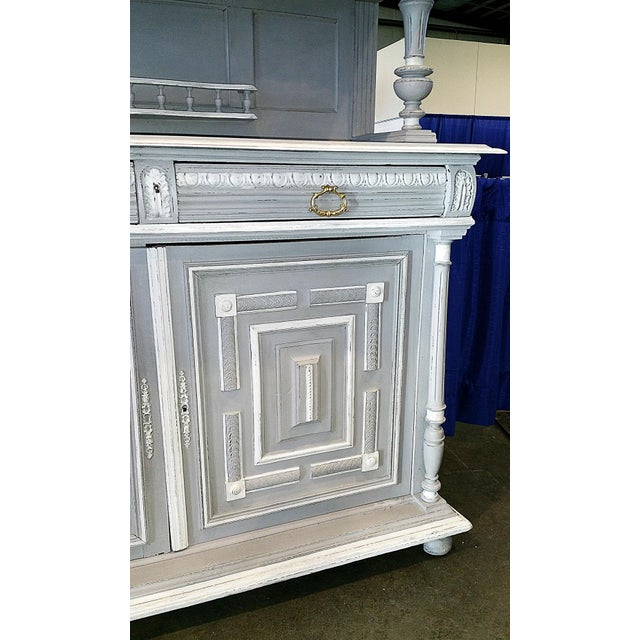 Wood Antique French Painted Hutch For Sale - Image 7 of 11