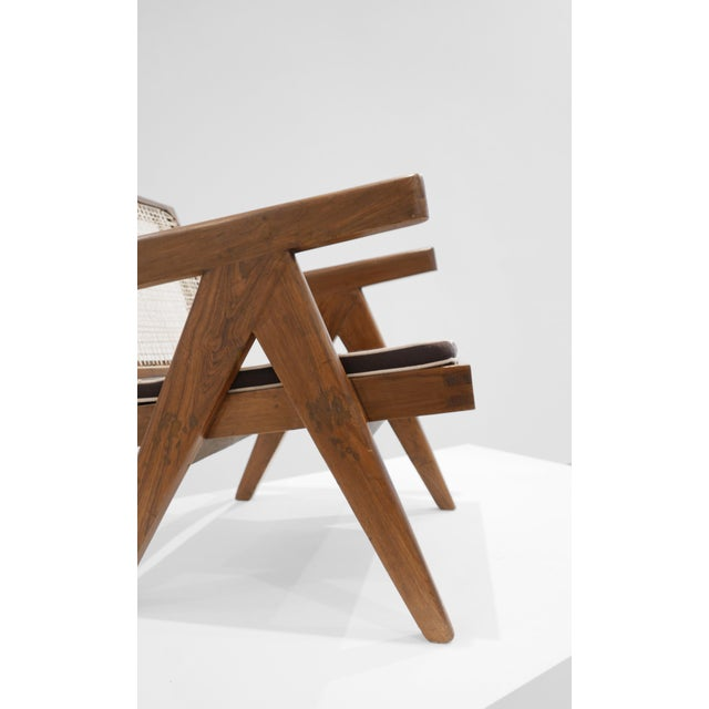 1950s 1955 Pierre Jeanneret Model Pj-Si-29-A Low Lounge Chair For Sale - Image 5 of 8