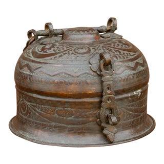 Antique Copper Beetlenut Box For Sale