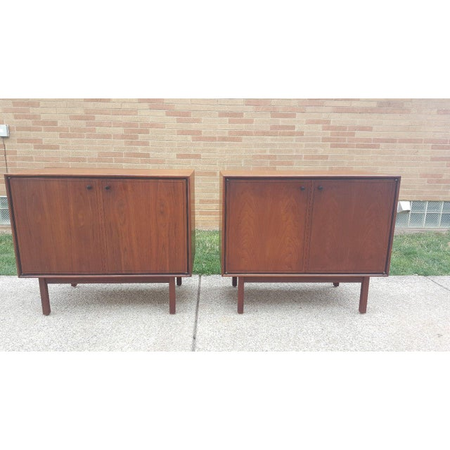 Milo Baughman for Arch Gordon Walnut Cabinets - A Pair - Image 3 of 11