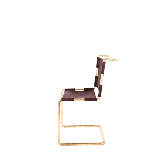 Gold Safari Chair by Artist Troy Smith - Contemporary Design - Artist Proof - Custom Furniture - Limited Edition For Sale - Image 8 of 10