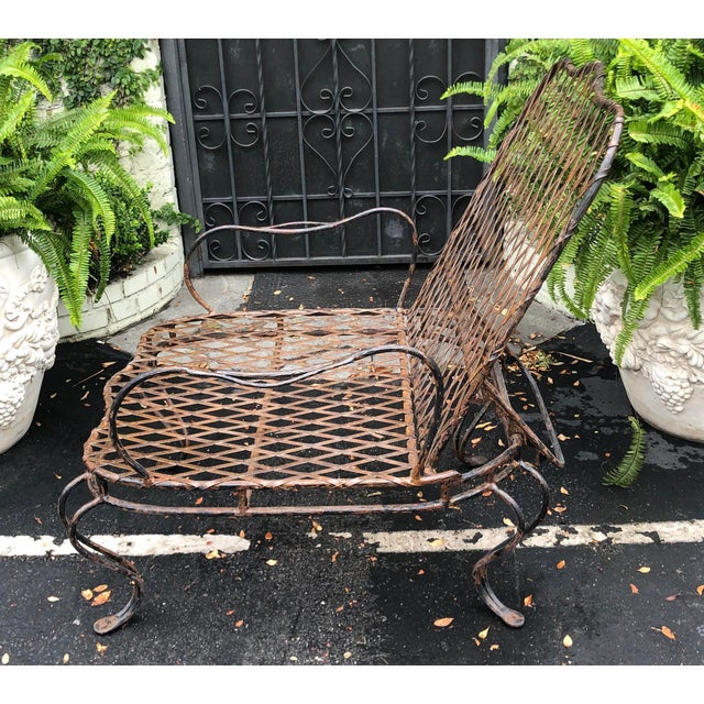 Rose Tarlow Wrought Iron Outdoor Lounge Chairs - a Pair For Sale In Los Angeles - Image 6 of 10