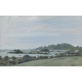 Original Plein Air Oil Painting, McVay Beach, Brookings, Oregon For Sale