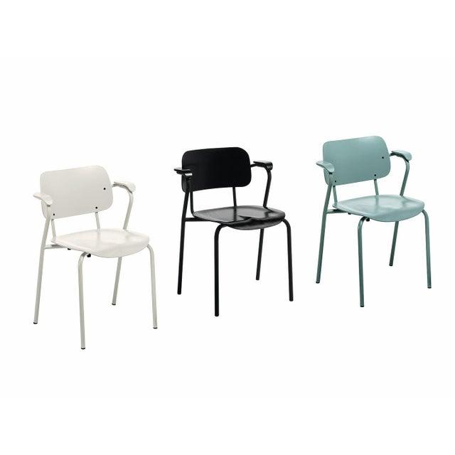 Lukki Chair in Sage Green by Ilmari Tapiovaara & Artek. Ilmari Tapiovaara designed the Lukki collection for the student...