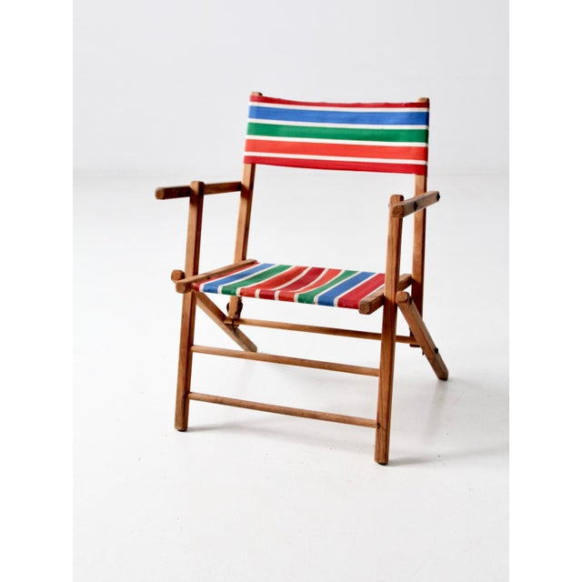 Mid-Century Kid's Folding Chair For Sale - Image 10 of 10