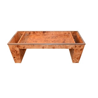 Tomaso Barbi Burled Wood Bed Tray For Sale