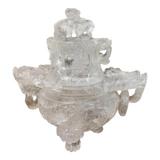 19th Century Chinese Rock Crystal Incense Burner For Sale