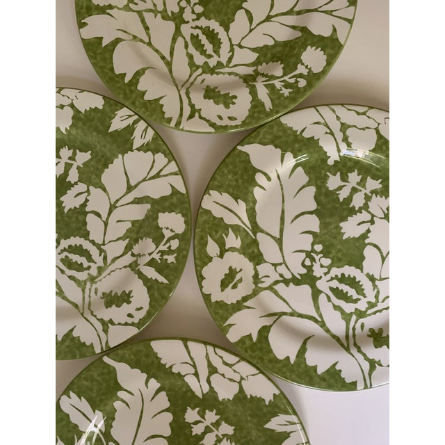 American Roscher Ambiance Collection Green Dinner Plates - Set of 4 For Sale - Image 3 of 9