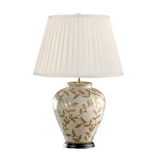 Brown Leaf Motif Table Lamp