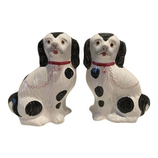 Vintage Hand Painted Dogs - a Pair For Sale