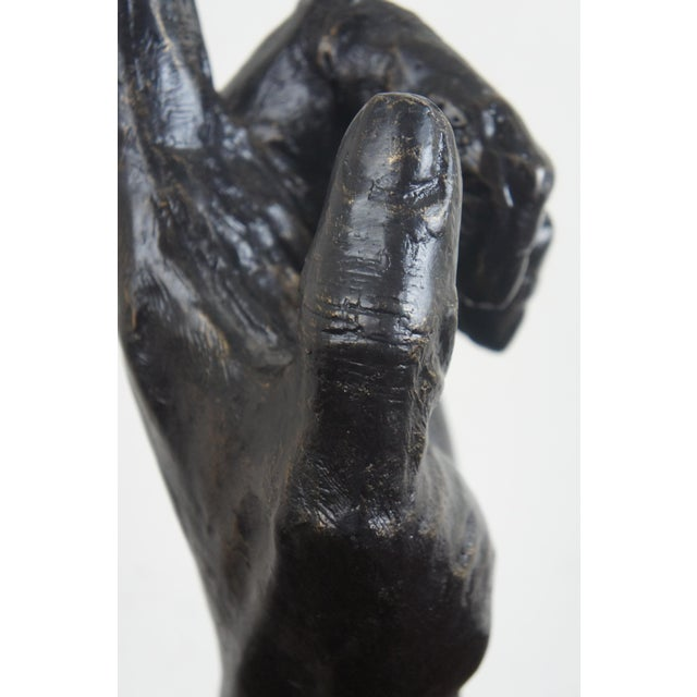 Global Views Cast Iron Open & Pointing Hand Sculptures - A Pair For Sale - Image 6 of 13
