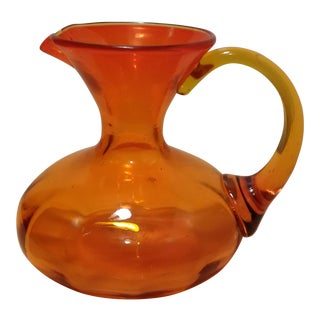 Blenko Amberina Hand Blown Glass Pitcher