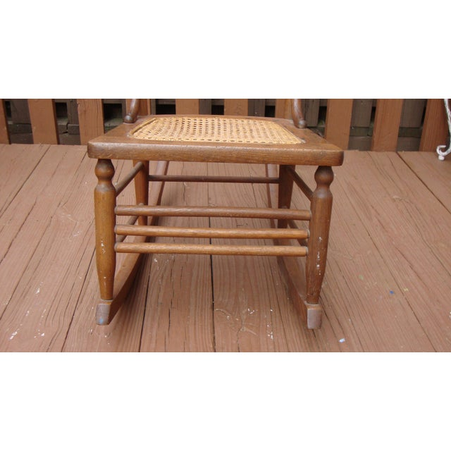 Antique 18th C. Early American Ladderback Rocker Chair For Sale - Image 9 of 11