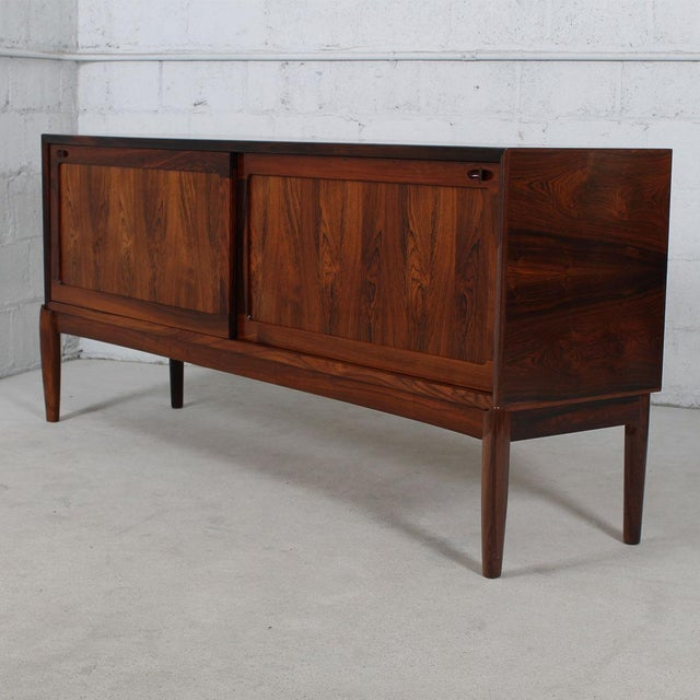 Rare Danish Modern Sideboard by HW Klein in Rosewood For Sale - Image 5 of 11