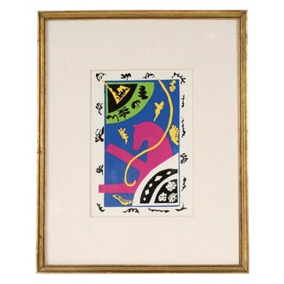 "Vintage Mid-Century Henri Matisse ""The Horse, the Equestrienne, and the Clown"" Framed Serigraph Print For Sale"