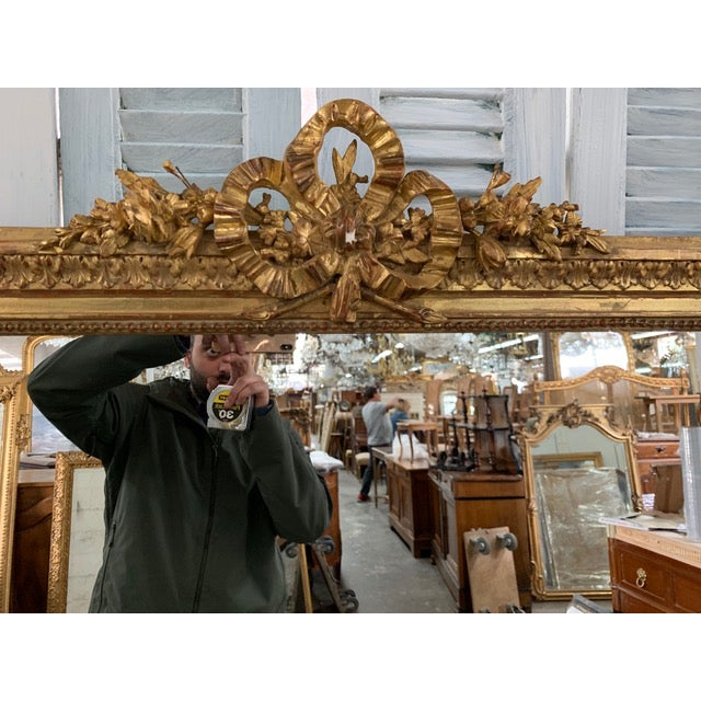 Early 18th Century 18th Century French Napoleon III Period Mirror For Sale - Image 5 of 6