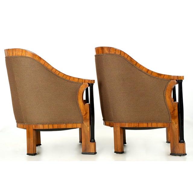 Pair of Ebonized Biedermeier Tub Arm Chairs, Circa 1825 For Sale - Image 9 of 10