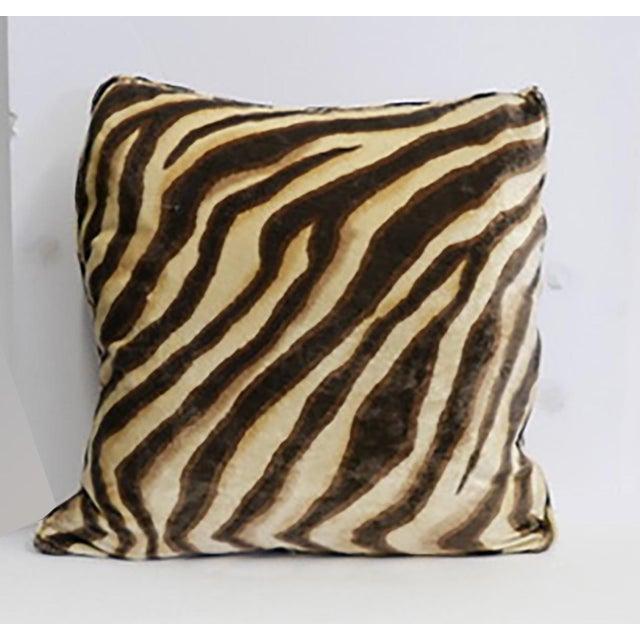 2000 - 2009 Velvet Tiger Pillow For Sale - Image 5 of 5