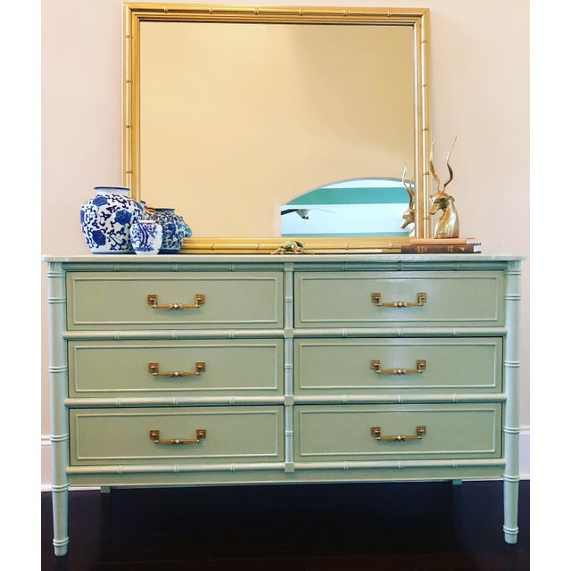 Asian 1970s Henry Link Faux Bamboo Dresser For Sale - Image 3 of 8