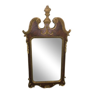 1950s Italian 14k Gold Gilded Mirror For Sale