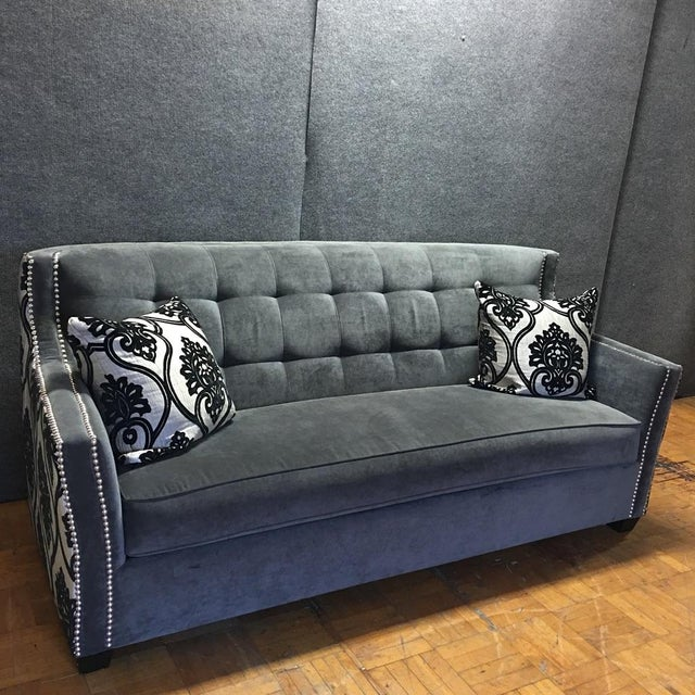 Fleur-De-Lis Chic Studded Sofa A matching loveseat is also available -- see our other listings. Contact...