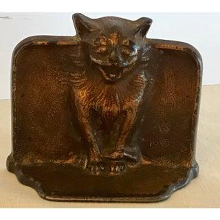 Antique Gothic Cat Cast Iron Bookend Preview