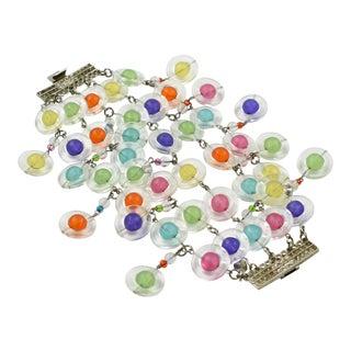 Erickson Beamon Multicolor Lucite Dangle Link Bracelet For Sale