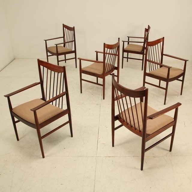 Arne Vodder set of 6 highback armchairs in rosewood, Denmark, 1960s - Image 2 of 7