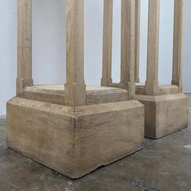 Pair 19th Century Gothic Stripped Oak Pedestals For Sale In Dallas - Image 6 of 11