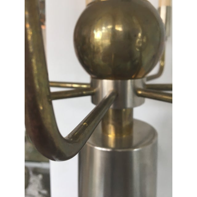Brass and Chrome French Two-Tone Sconces- a Pair For Sale In West Palm - Image 6 of 13