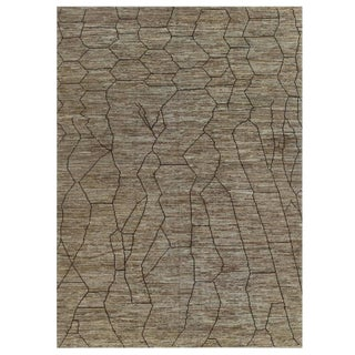 Moroccan Design Brown Rug - 10′ × 13′6″ For Sale