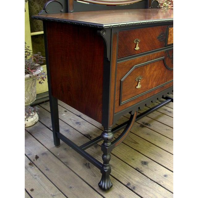 Gothic Jacobean Mahogany Dresser - Image 4 of 11