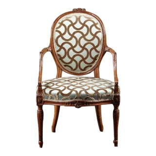 A Hepplewhite Carved Fauteuil
