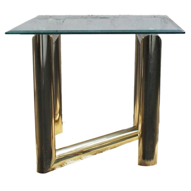 Pace Brass and Glass Side Table - Image 1 of 7