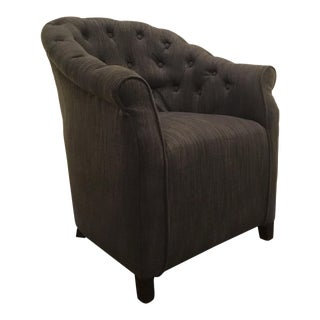 Cyan Co. Charcoal Tufted Transitional Sultry Lounge Chair For Sale