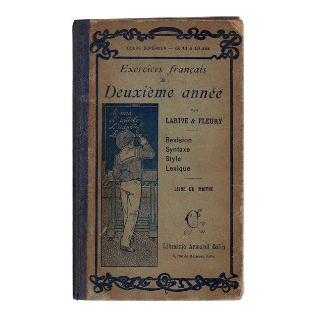 Antique Exercices Francais De Deuxieme Annee Book For Sale