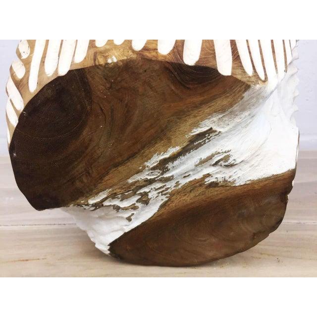 Teak Handmade Teak Wood Bowl For Sale - Image 7 of 11