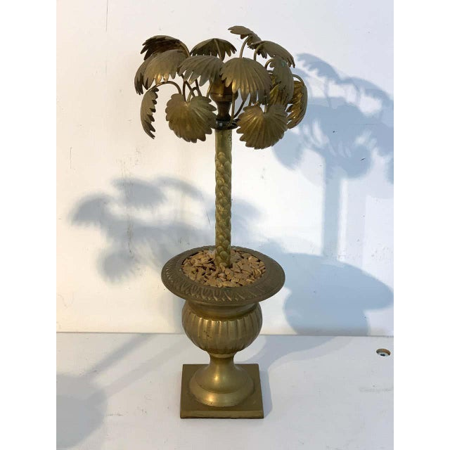 Metal Pair of Regency Style Bronze Palmette Urn Candlesticks For Sale - Image 7 of 8