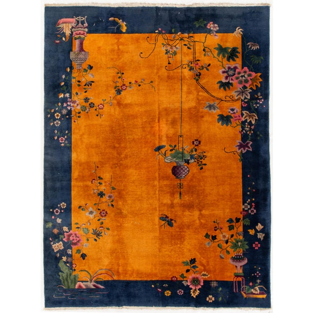 """Apadana-Antique Chinese Rug, 8'10"""" X 11'10"""" For Sale - Image 10 of 10"""