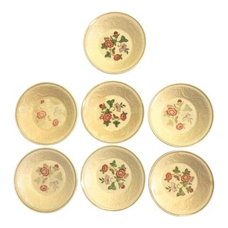 Vintage Wedgwood Patrician Tapestry Collection Small Bowls - Set of 7 For Sale