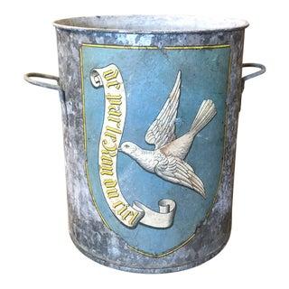 Antique French Dove Motif Zinc Tub
