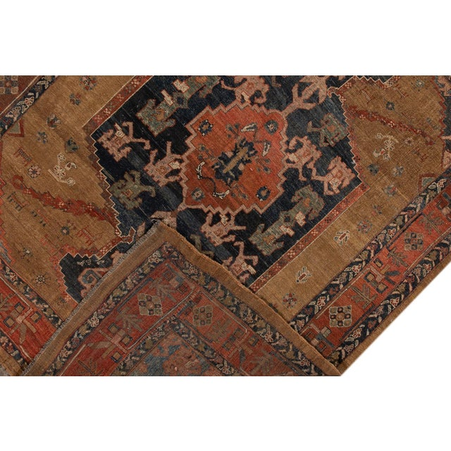 "Vintage Persian Tribal Bakshaish Rug, 8'0"" X 9'6"" For Sale - Image 9 of 12"